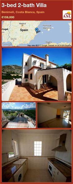 3-bed 2-bath Villa in Benimeli, Costa Blanca, Spain ►€159,000 #PropertyForSaleInSpain