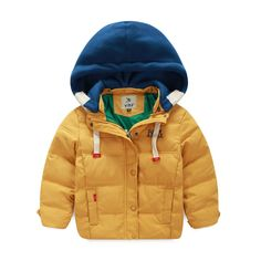 2016 Direct Selling Top Regular  Winter Coat Children Boys Down Jacket for Winter Clothes Leisure Hooded Kids Warm Coats