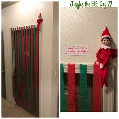 Elf on the shelf ideas: have him repel from streamers Christmas Elf, All Things Christmas, Christmas Crafts, Christmas Ideas For Kids, Christmas Vacation, Christmas Inspiration, Christmas Activities, Christmas Traditions, Awesome Elf On The Shelf Ideas