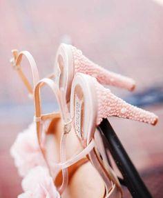 Pastel pink wedding heels, tie #2014 Valentines day wedding #Summer wedding ideas www.dreamyweddingideas.com