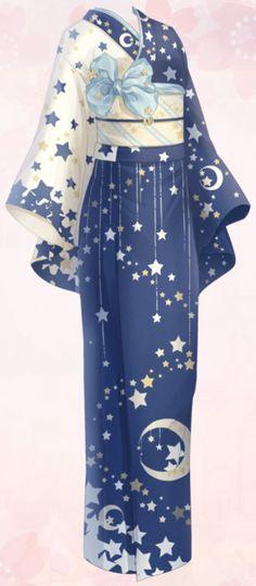 Star Patten Yukata | Love Nikki-Dress UP Queen! Wiki | Fandom Cosplay Outfits, Anime Outfits, Mode Outfits, Drawing Anime Clothes, Dress Drawing, Fashion Design Drawings, Fashion Sketches, Mode Kimono, Anime Dress