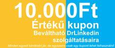 10.000Ft értékű kupon, kérdésekért Company Logo, Calm, Logos, Logo
