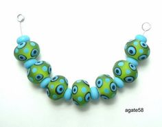 Hey, I found this really awesome Etsy listing at https://www.etsy.com/listing/223881727/turquoise-lime-frosted-disk-beads