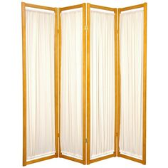 Oriental Furniture 6 ft. Tall Helsinki Shoji Screen - 4 panel - Honey, Beige & Tan