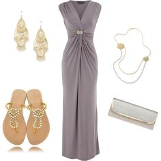 A fashion look from January 2012 featuring Dorothy Perkins gowns, Mystique sandals and Nine West clutches. Browse and shop related looks.