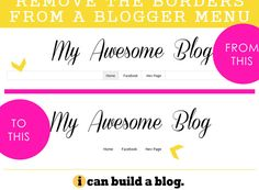 How To Remove Borders from a Blogger Pages Menu