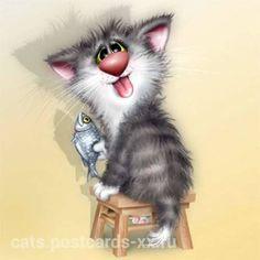 Чудные коты художника Алексея Долотова (xenjpus) :: Коты и кошки - рисунок, графика, живопись