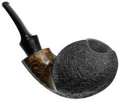 BriarWorks Tobacco Pipes: Signature Dark Partially Sandblasted Blowfish