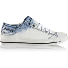 Diesel EXPOSURE IV LOW W Casual Shoes (465 PEN) ❤ liked on Polyvore featuring shoes, casual shoes, white jeans, women, bleach shoes, laced up shoes, diesel footwear, laced shoes and lace up shoes
