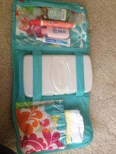 Fold and Go Organizer as diaper clutch//  Good Idea//No instructions but should be able to figure out