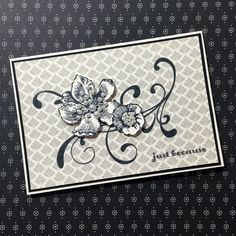 stampcandy.net, Stampin' Up!, PPA257 Everything Eleanor stamp set, And Many More stamp set, Timeless Elegance DSP, just because card