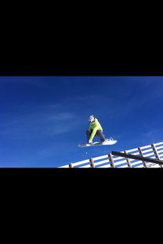 Snowboarding in Sierra Nevada.S.G