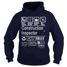 CONSTRUCTION INSPECTOR CERTIFIED JOB TITLE T-Shirts, Hoodies. CHECK PRICE ==► https://www.sunfrog.com/LifeStyle/CONSTRUCTION-INSPECTOR--CERTIFIED-JOB-TITLE-Navy-Blue-Hoodie.html?id=41382