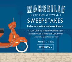 Enter to win the Le Creuset Marseille Sweepstakes celebrating Le Creuset's new sea-inspired blue.