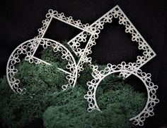 Chipboard lace frames Chipboard, Frames, Craft, Lace, Jewelry, Products, Jewlery, Creative Crafts, Jewerly