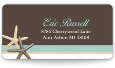Wedding Return Address Labels - Starfish