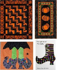 Quilt Inspiration: Free Pattern Day: Halloween (links to over 50 free halloween quilt patterns)