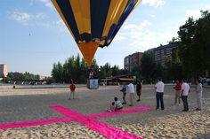 Globo aerostático durante una competición
