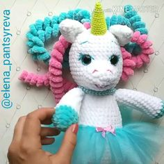 Crochet Toys Patterns, Stuffed Toys Patterns, Doll Patterns, Sewing Patterns, Crochet Unicorn, Homemade Toys, Doll Tutorial, Amigurumi Doll, Loom Knitting