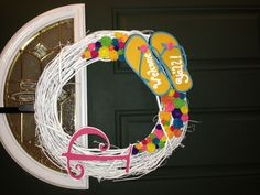 Summer flip flop wreath