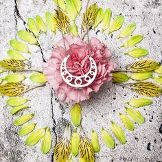 Chandra Moon Pendant  #moon #chandra #necklace #accessories #flower #mandalas #saraswati #danmala  http://saraswatimoon.myshopify.com/search?q=chandra&search-button.x=0&search-button.y=0