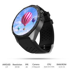 98.00$  Buy here - otex 2017 Hot Kw88 android 5.1 OS Smart watch 1.39 inch 400*400 SmartWatch phone support 3G wifi nano SIM WCDMA Heart Rate  #buyonlinewebsite