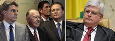 """Pedidos feitos pelo procurador-geral da República, Rodrigo Janot, contra o presidente do Senado, Renan Calheiros, o ex-presidente José Sarney e o senador Romero Jucá, estão com o ministro Teori Zavascki, do STF, há mais de uma semana; os caciques do PMDB foram gravados por Sérgio Machado, ex-presidente da Transpetro e delator da Lava Jato, e Janot os acusa de tramar contra a Lava Jato; Jucá tratou a saída da presidente Dilma Rousseff como uma forma de """"estancar a sangria"""" da operação e…"""
