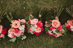 17 Valentine's Inspired Wedding Ideas | Florals in varying shades of pink build the prettiest bouquets for Valentine nuptials. The contrasting shades and textures make for a timeless look.
