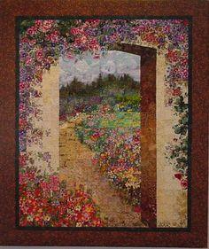 watercolor quilt, Lenore Crawford