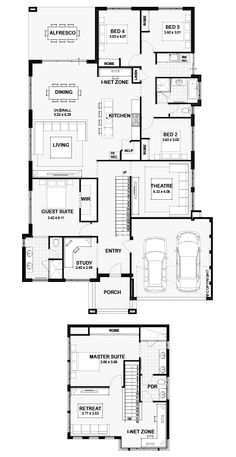 Family House Plans, Dream House Plans, Modern House Plans, House Floor Plans, House Worth, Architectural Floor Plans, Office Plan, Home Design Floor Plans, Storey Homes