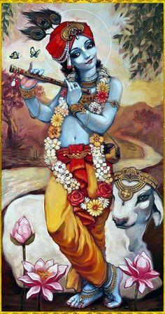 Art indien - Peinture Acrylique - Murlaidhar Krishna - Reproductions par Raghuraman   Acheter Affiches, Cadres, toile & Digital Art Prints   Petit, compact, moyen et variantes grandes