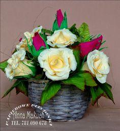 Papierowe plecionki: Kwiatowo... różano... wiosennie...