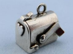 Vintage Movable Mailbox Sterling Silver 925 Charm. My mother had a charm bracelet and I always used to play with this.