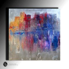 Acrylic Abstract Painting Metallic Painting Original Palette