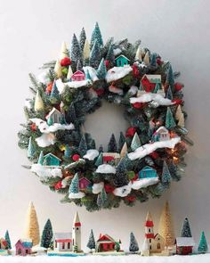 Wreath with houses