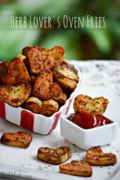 Pair these daring heart-shaped, oven-baked potatoes with your Valentine's Dinner -- simply spudtacular and spiffed up with herbs!