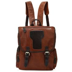 97.98$  Buy here - http://alitqu.worldwells.pw/go.php?t=32317913798 - Nesitu High Quality Vintage Brown 100% Guarantee Real Cow Genuine Leather Cowhide Women Backpack Travel Bags #M7060