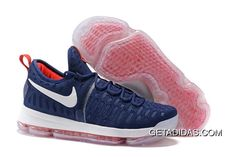 b430ca4b1c7 Nike Kd 9 White Navy Blue Red TopDeals