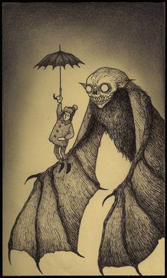 Illustration by John Kenn aka Don Kenn Illustation Ilustração Sketchbook Sketch Drawing Draw Creepy Scary Creepy Drawings, Creepy Art, Scary, Art Drawings, Creepy Stuff, Monster Art, Monster Drawing, Arte Horror, Horror Art