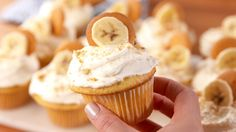 Banana Pudding Cupcakes The only thing I will do different is make my own custard instead of using box pudding.
