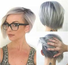 Short Undercut Asymmetrical Gray Short-Undercut-Bob-G