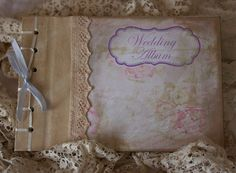 Wedding Album  vintage shabby chic by youruniquescrapbook on Etsy, £29.95