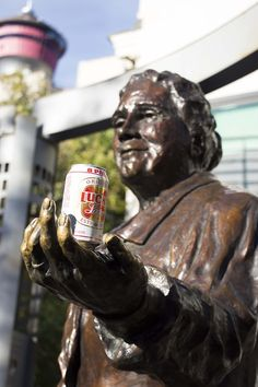 LOL Lucky is from B.C. they need a beer can from Alberta......#calgary   public art