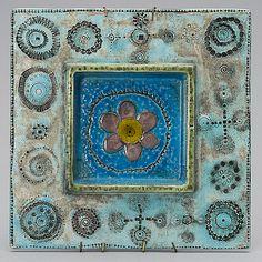 RUT BRYK, KERAAMINEN SEINÄLAATTA. Sign. Bryk. Ceramic Wall Tiles, Tile Art, Ceramic Plates, Gaudi, Modern Art, Contemporary Art, Kids Clay, Ceramic Artists, Clay Projects
