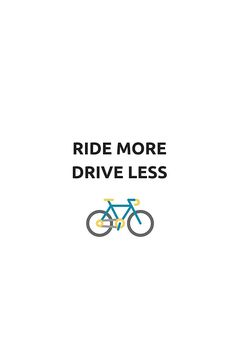 RIDE MORE, DRIVE LESS  #bike #bicycle #cyclists #gifts #redbubble #shirt #eco
