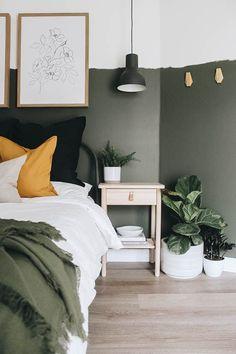 Olive Green Bedrooms, Green Rooms, Bedroom Green, Olive Bedroom, Green Bedding, Room Ideas Bedroom, Home Bedroom, Bed Room, Bedroom Furniture