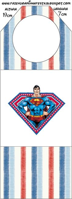 Superman Free Party Printables, Backgrounds and Images.