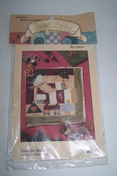 Quilting Pattern Packet Olde St. Nick #6254 Christmas Button Babies by Cheri  #ButtonBabiesbyCheri