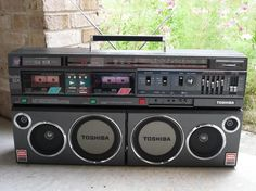 Vintage boombox. Toshiba SX1000 .....................Please save this pin.   .............................. Because for vintage collectibles - Click on the following link!.. http://www.ebay.com/usr/prestige_online