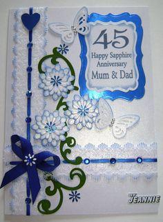 45 years Sapphire Anniversary